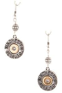 Winchester 45 Auto Bullet Dangle Earrings