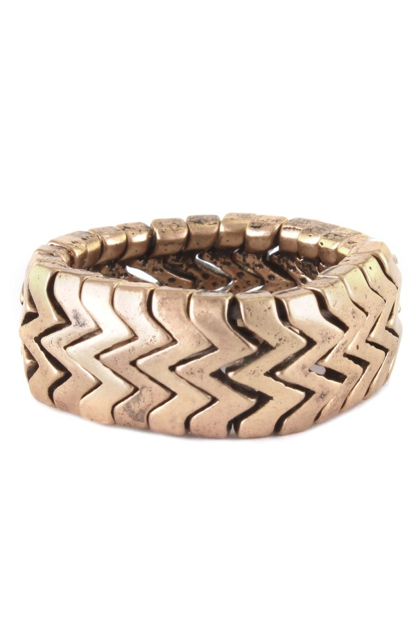 Stretchable Zig Zag Ring - Rings