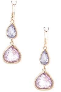 Teardrop Glass Stone Drop Earrings