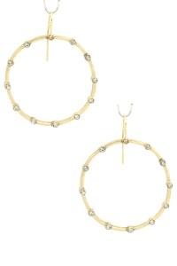 Hammered Hoop Drop Earrings