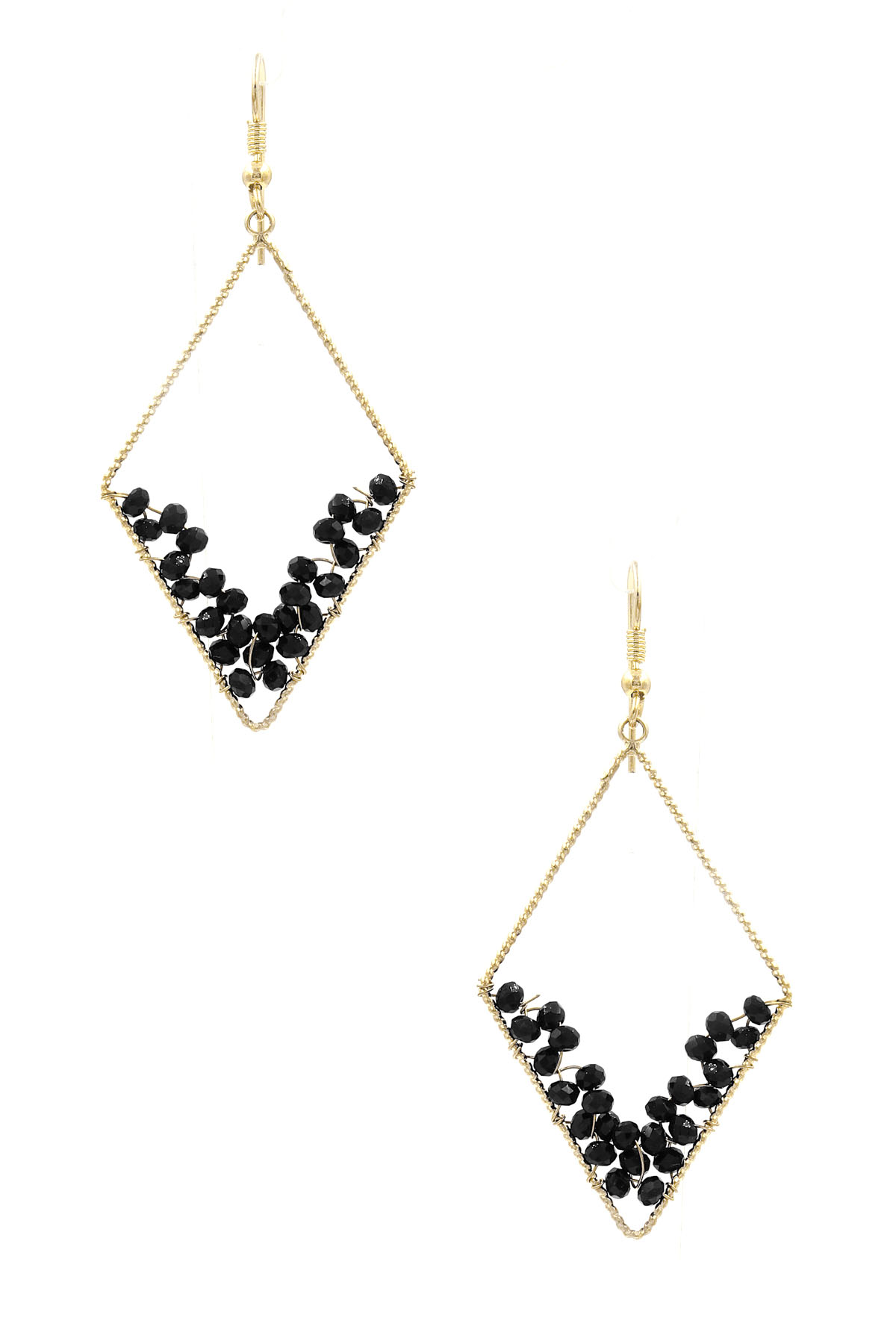 Coiled Glass Bead Textured Earrings
