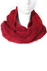Cable Knit Infinity Scarf - Scarves