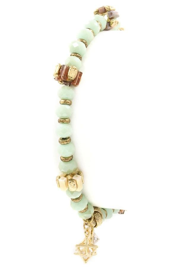 Star Charm Bead Stretch Bracelet Bracelets