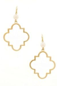 Quatrefoil Drop Earrings