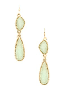 Druzy Stone Drop Earrings