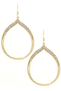 Rhinestone Embedded Teardrop Earrings