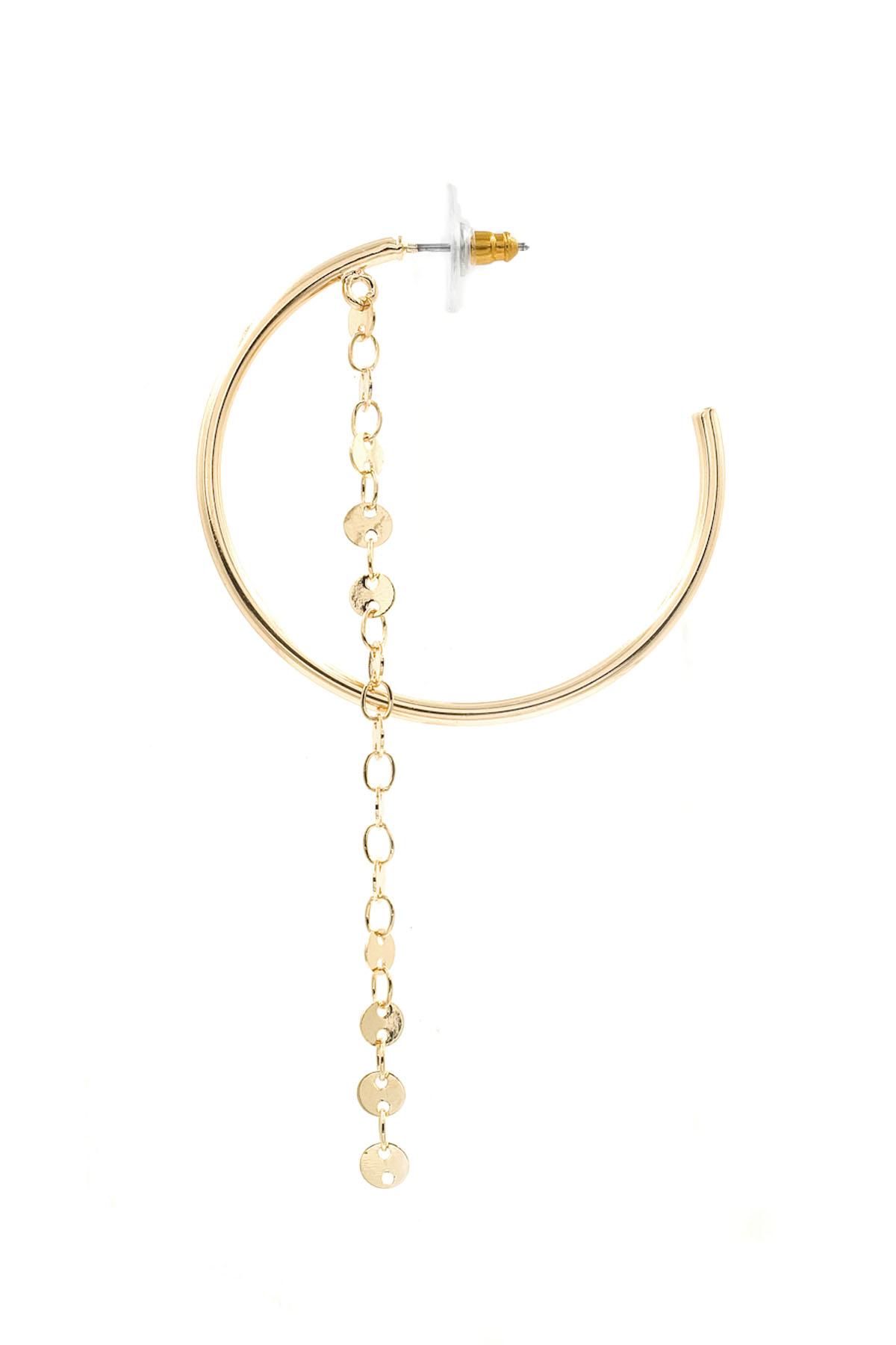 Open Hoop Tassel Earrings