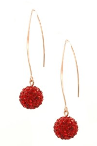 Pave Ball Drop Earrings