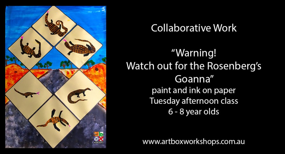 Goanna painted @artboxworkshops