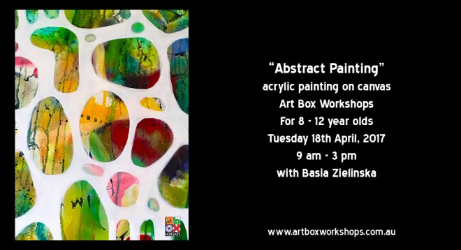 Art Box Workshops abstract painting on canvas