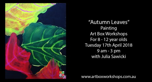 Autumn leaves painting at Art box Workshops