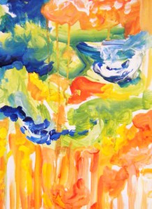 Expressive painted created at Art Box Workshops studio