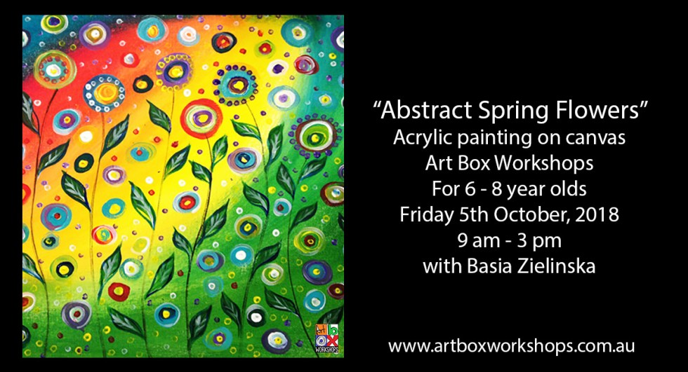 Spring flower painting created at Art Box Workshops