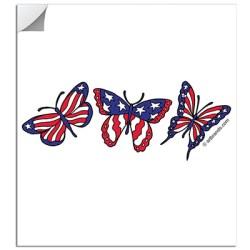 FLAG BUTTERFLIES STICKERS