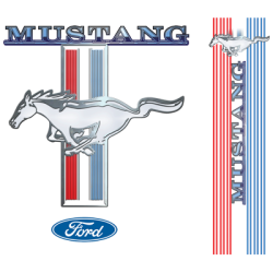 MUSTANG LOGO WITH SLEEVE PRINT