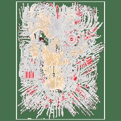 RED CYBORG SKULL