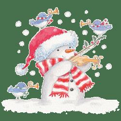 SNOWMAN AND VIOLIN