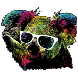 TECHNICOLOR KOALA BEAR