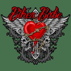 BIKER BABE HEART