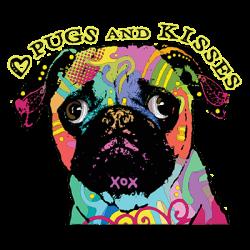 PUG AND KISSES