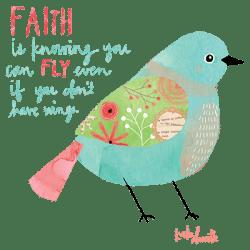 FAITH WATERCOLOR BIRD