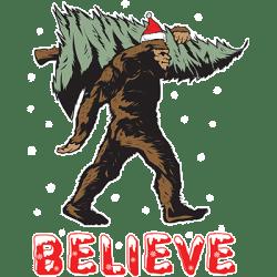 BELIEVE CHRISTMAS SASQUATCH