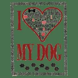 HEART MY DOG TEXT