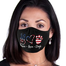 PEACE LOVE DOGS 2-PLY MASKS