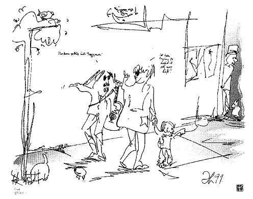 Seinfeld AP1 by Al Hirschfeld
