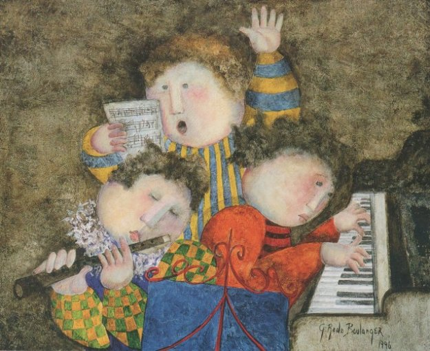 Piano Trio 1996 20x25 by Graciela Rodo Boulanger