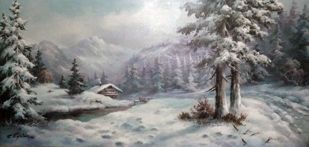 Snowscape 1970 By Eugene Garin