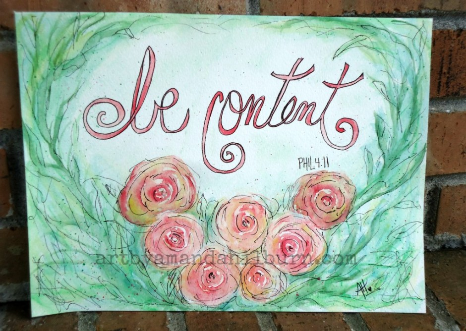 Be Content Watercolor 2