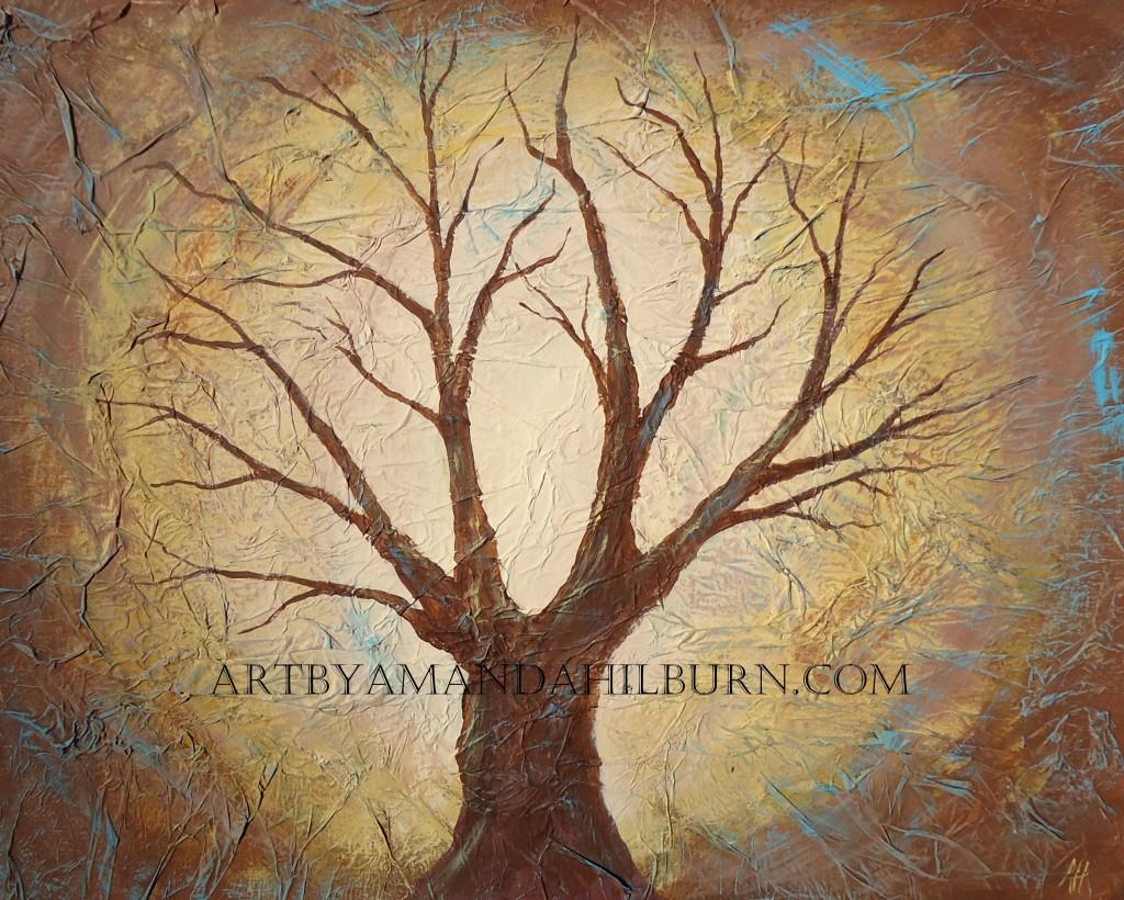 Golden Oak Print wm
