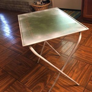 TV Tray Legs Painted White