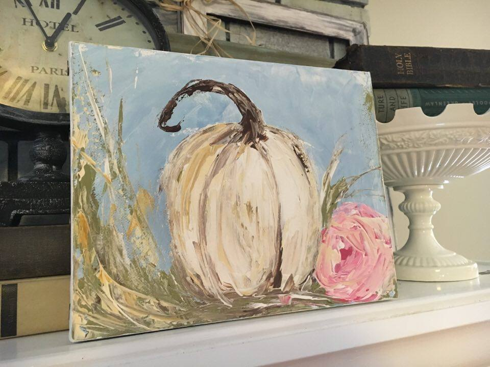 Palette Knife Pumpkin: a Heart to Heart eCourse