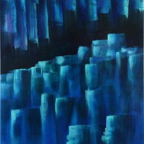 "Cavern of Frozen Secrets 24"" x 18"" Acrylic on Stretched Canvas"