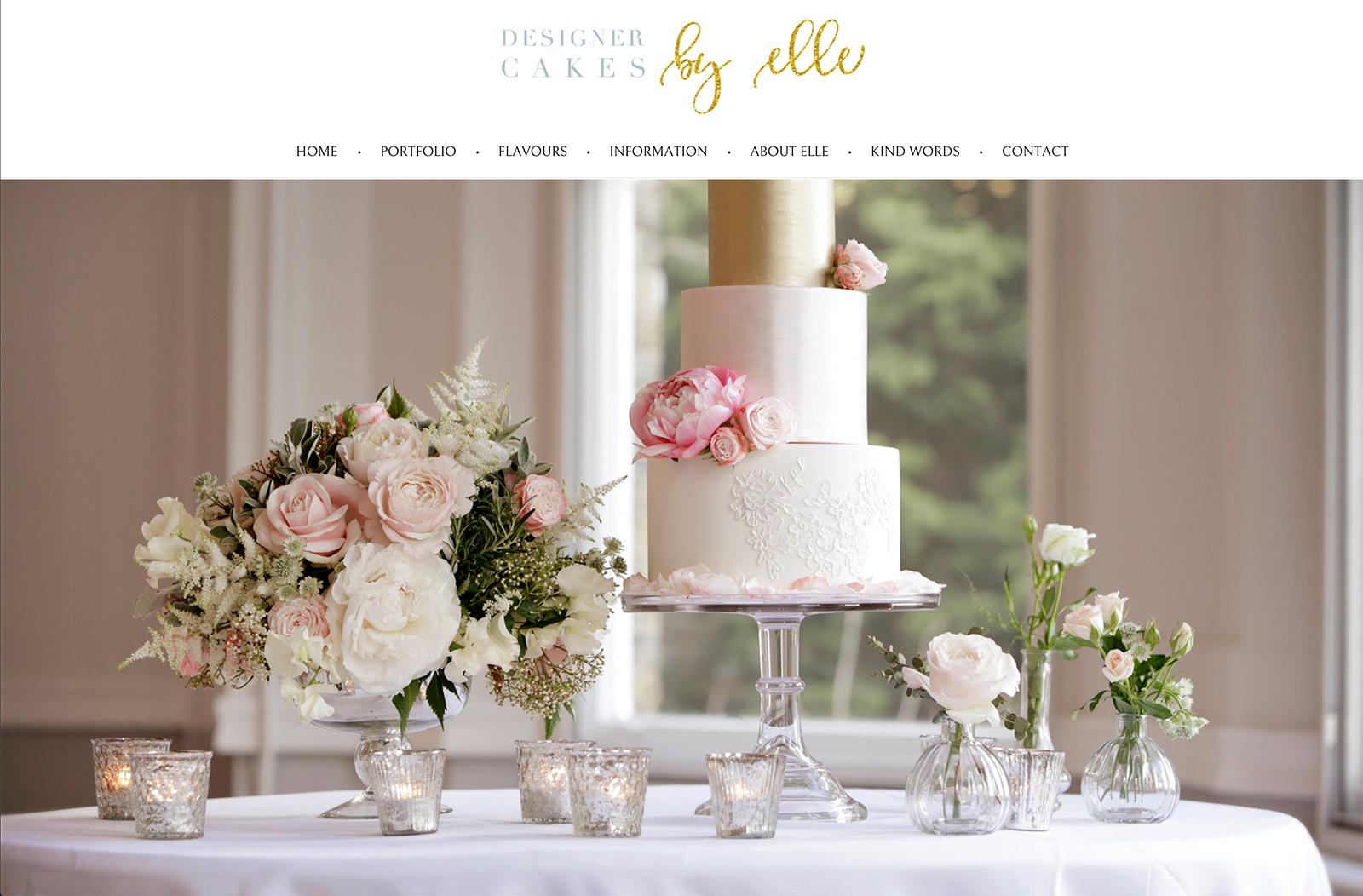 Designer Cakes by Elle - Website Design Surrey