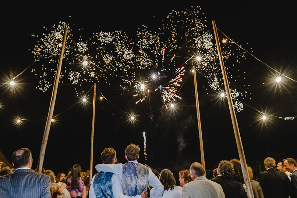 fireworks wedding south wales