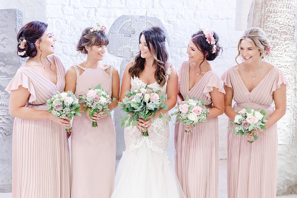 bride and bridesmaids south wales