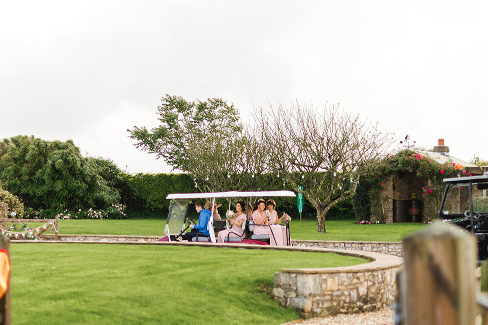 wedding golf cart south wales