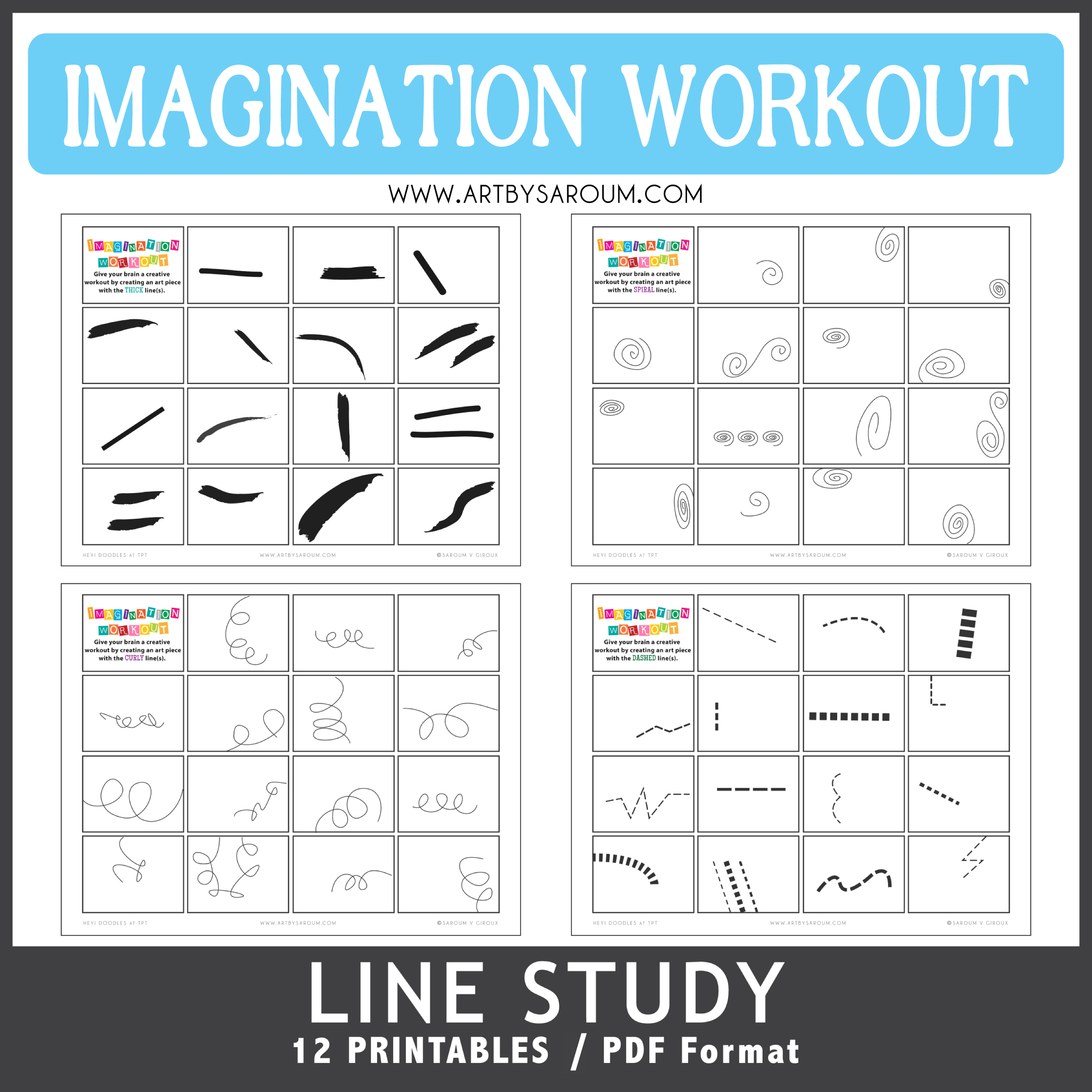 Lines Study Imagination Workout