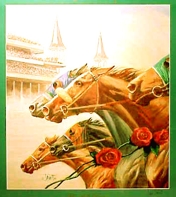 art kentucky derby vintage style poster