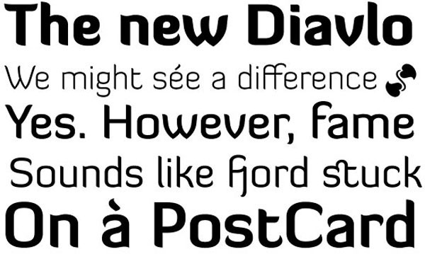 Diavlo Free for Commercial use Font