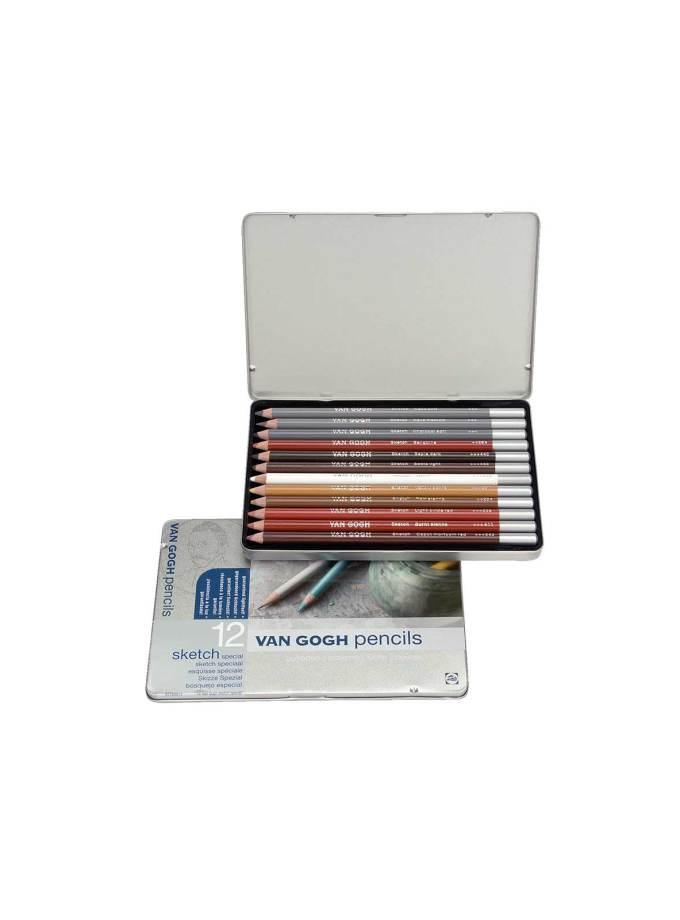 Set-van-gogh-pencils-12xrwmata-skech-talens-Art&Colour