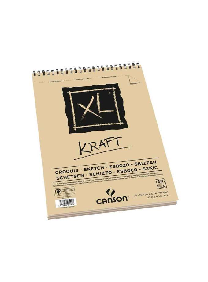 Mplok-Α3-XL-Kraft-60f-Croquis-Canson-Art&Colour