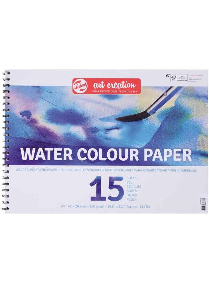 Mplok-A3-Akourarela-Neroxromata-WaterColour-Paper-Talens-ArtCreation-Art&Colour