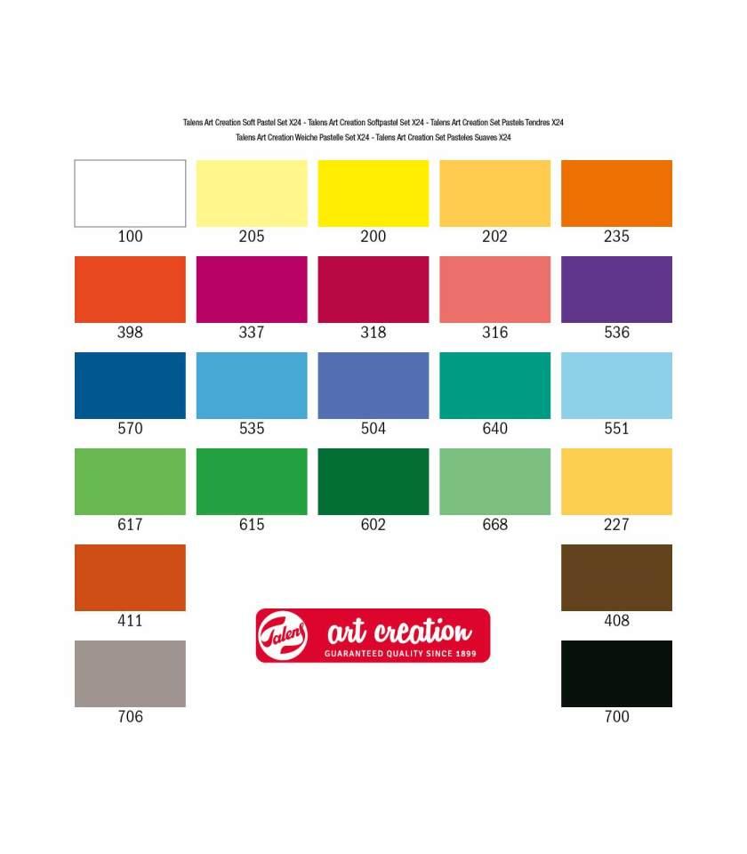 Set-24-Soft-Pastels-Art-Creation-Talens-Art&Colour-chart