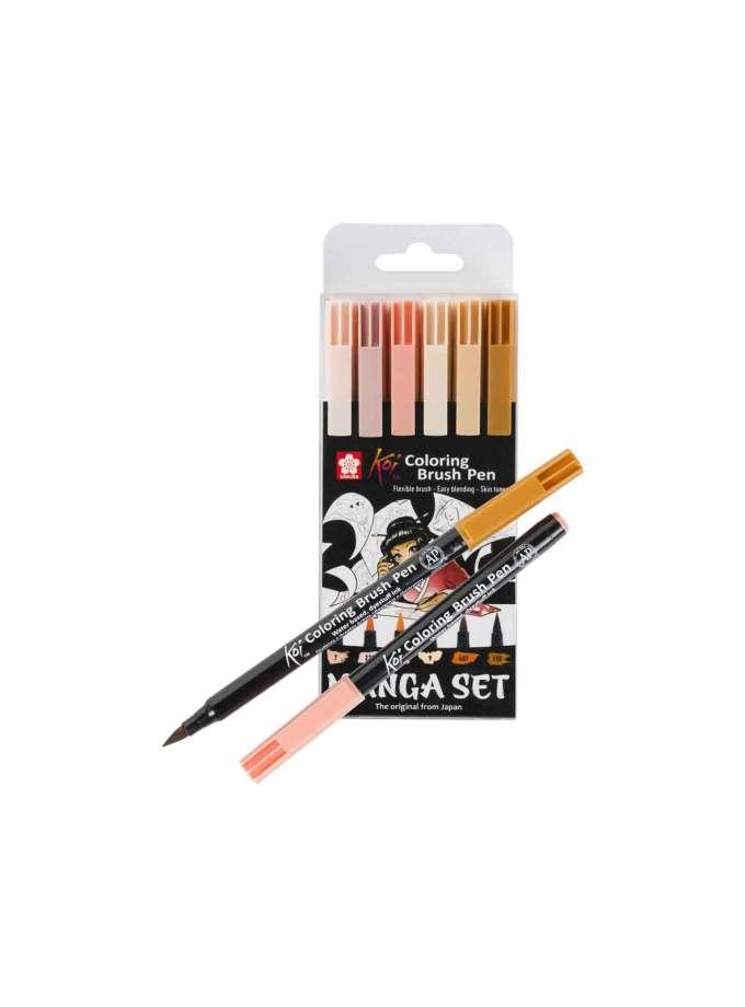 set-markadoroi-koi-coloring-brush-pen-6-Sakura-Art&Colour-1