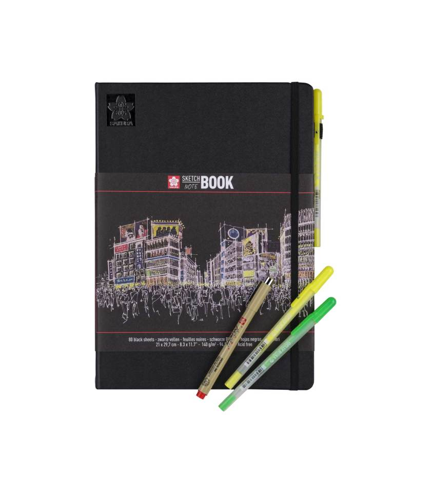 sketchbook-notebook-21x29.7-black-sakura-Art&Colour