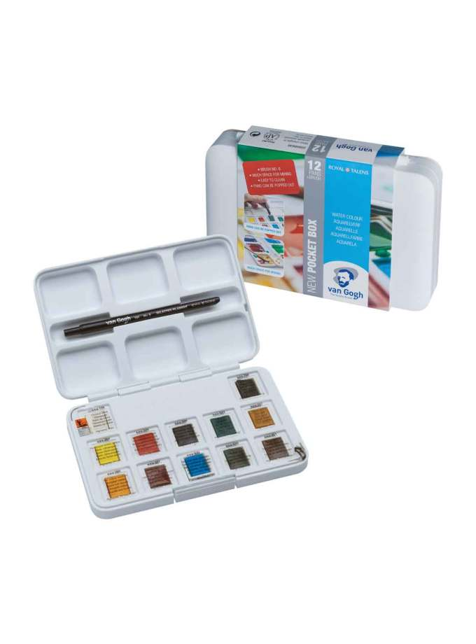 Set-Akouarelas-12-Pocketbox-VanGogh-Talens-Art&Colour-Colorcard-1